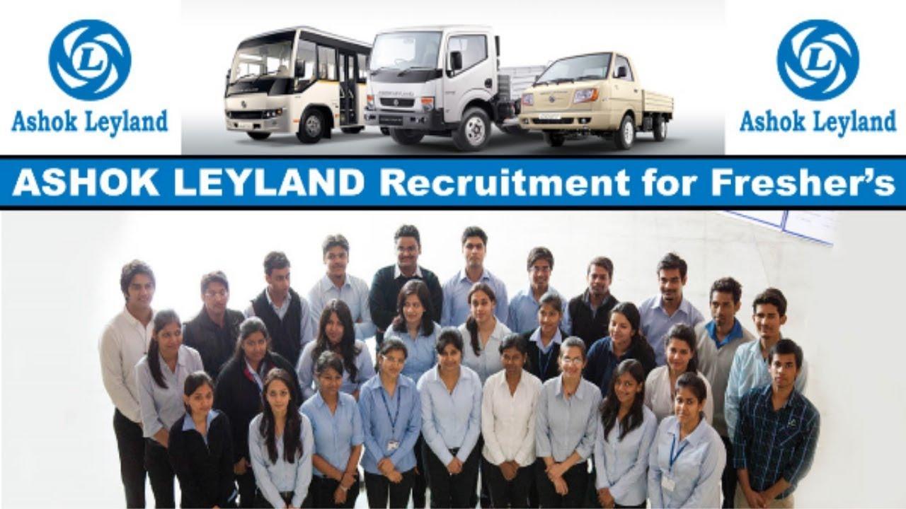 Ashok Leyland Recruitment 2019 | Ashok Leyland Urgent